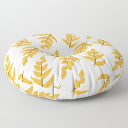 Orange leaves and branches Floor Pillow