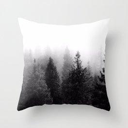 Silent Forest Dark Throw Pillow