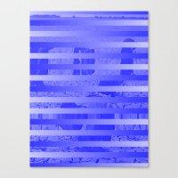 glitch Canvas Prints featuring Glitch by Claire Balderston