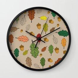 Oak pattern Wall Clock