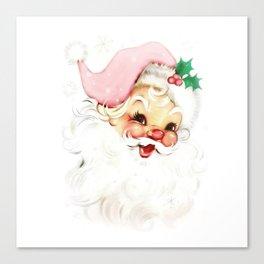 pink retro vintage santa Canvas Print