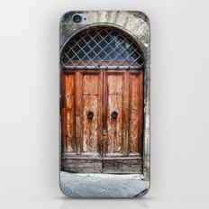 Old wood door iPhone & iPod Skin