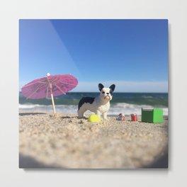 The French Bulldog + Rockaway Beach Metal Print