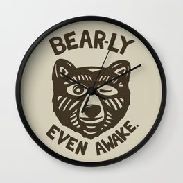 HI(BEAR)NATE Wall Clock