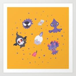 Ghost Halloween pattern Art Print