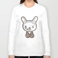 boxing Long Sleeve T-shirts featuring Boxing Bunny by pencilplus