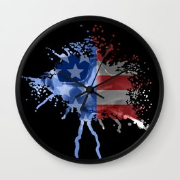 Hunter S. Thompson  |  Red, White & Blue  |  Blood Spatter Wall Clock