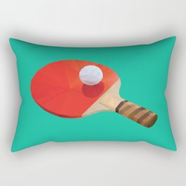 Ping Pong Paddle polygon art Rectangular Pillow
