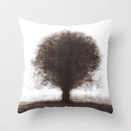Tree - photopolymer/gravure Throw Pillow