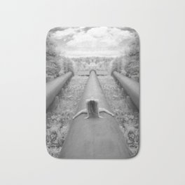 0925-LP Industrial Nature Nude Woman Straddling Massive Hydro Pipe Bath Mat