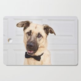 Beautiful rescue dog wearing a bow tie! Cutting Board