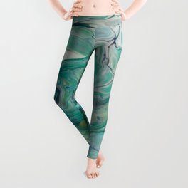 River Eddy - Abstract Acrylic Art by Fluid Nature Leggings