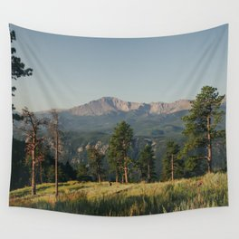 Summer Morning View of Pikes Peak Wall Tapestry
