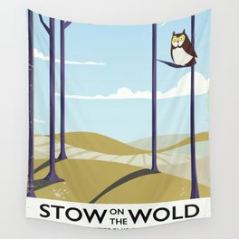 stow on the wold vintage travel poster Wall Tapestry