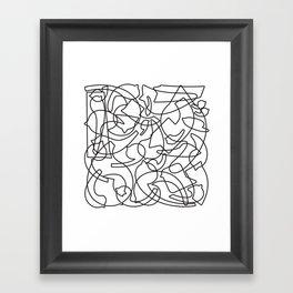 Jolly Clips (White) Framed Art Print