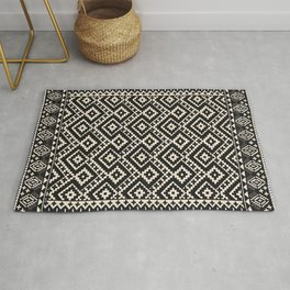 N82 - Geometric Traditional Moroccan Art Pattern Farmhouse Style Rug