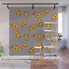 Pizza slices Wall Mural
