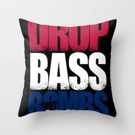 Drop Bass Not Bombs (USA) Throw Pillow