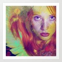 angel Art Prints featuring Angel by Ganech joe
