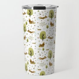 Squirrels in the forest Travel Mug