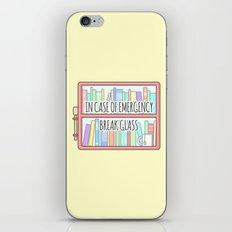 Emergency Bookshelf iPhone & iPod Skin