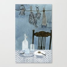 Still life with dried herbs Canvas Print