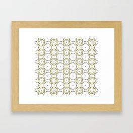 Gold and Silver Rings Polka Dot Pattern Framed Art Print