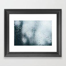 raindrops .  Framed Art Print