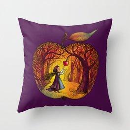 Autumn apple story Throw Pillow