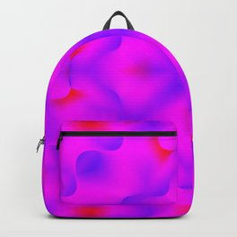 Bright pattern of blurry violet and pink flowers in a bright kaleidoscope. Backpack