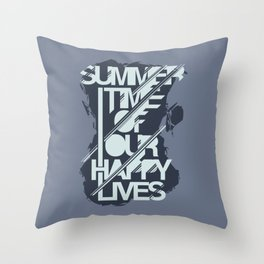 SUMMERTIME HAPPY LIFE Throw Pillow