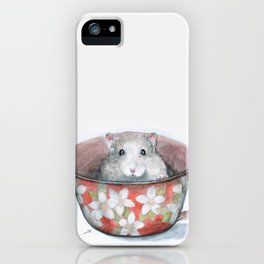 Rat in a cup iPhone Case