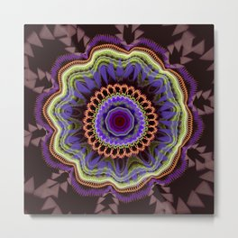 Modern abstract fantasy flower Metal Print