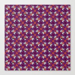 Laguna - Raspberry - Gothic Pasifika Canvas Print