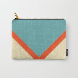 Colorful Symmetric V Shape Retro Style Stripes Uelanuhi Carry-All Pouch