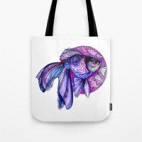 goldfish Tote Bags featuring Goldfish by Slaveika Aladjova