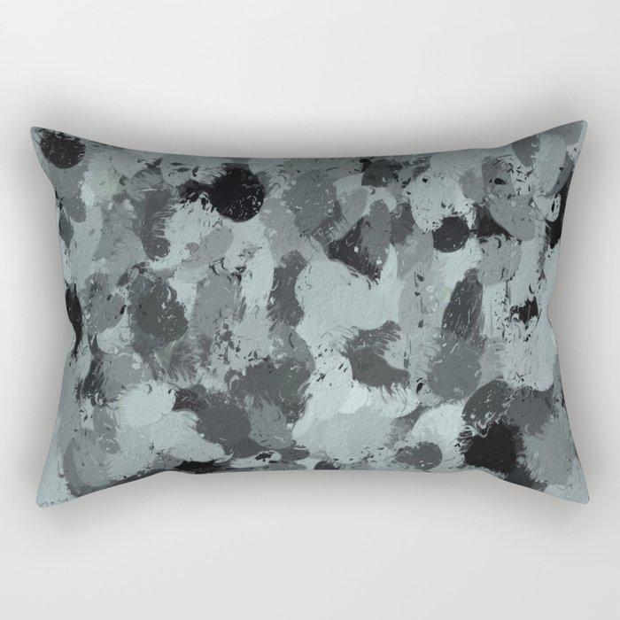 Black and Smokey Blue Pastels 3216 Rectangular Pillow
