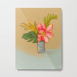 Tropical Still Life Bouquet Metal Print