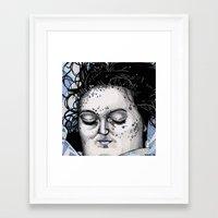 laura palmer Framed Art Prints featuring Laura Palmer by Drawn by Nina