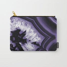 Ultra Violet Agate Chic #1 #gem #decor #art #society6 Carry-All Pouch
