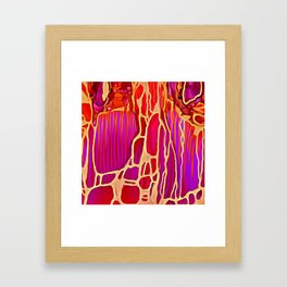 Gold Vein Framed Art Print