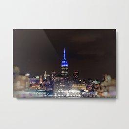 Midtown Manhattan at Night Metal Print