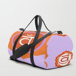 SACRAL SANSKRIT CHAKRAS  ASTRAL PURPLE PSYCHIC WHEEL Duffle Bag