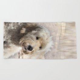 Dog Goldendoodle Golden Doodle Beach Towel