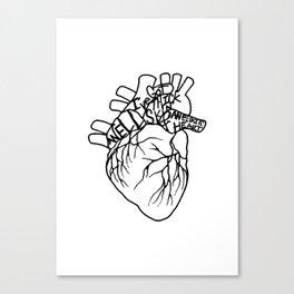 Elastic Heart Canvas Print