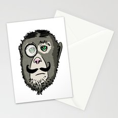 Detective Monkey Head Stationery Cards