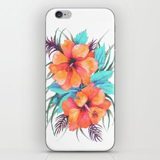 TROPICAL FLOWER {orange hibiscus}  iPhone Skin