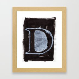- D - Framed Art Print