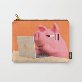 Rosa the Pig is working Carry-All Pouch
