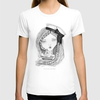 ships T-shirts featuring Loose Lips Sink Ships by Kirbee Lawler